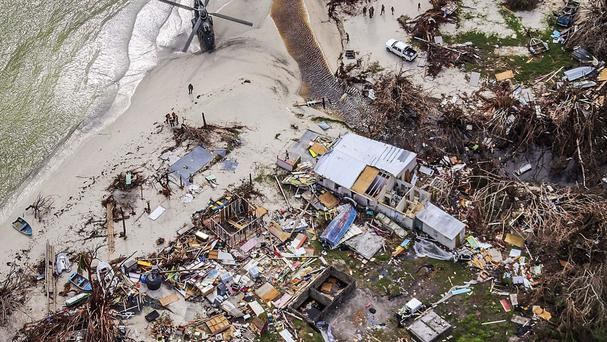 Hurricane damage caused by Maria in the British Virgin Islands