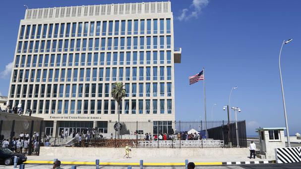 File photo of the US embassy in Havana, Cuba