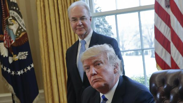 Tom Price angered Donald Trump when he used charter flights instead of flying with commercial airlines (Pablo Martinez Monsivais/AP/PA)
