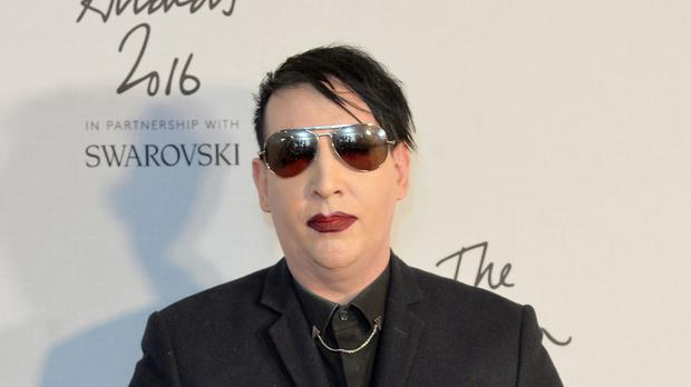 Marilyn Manson was injured on stage in New York