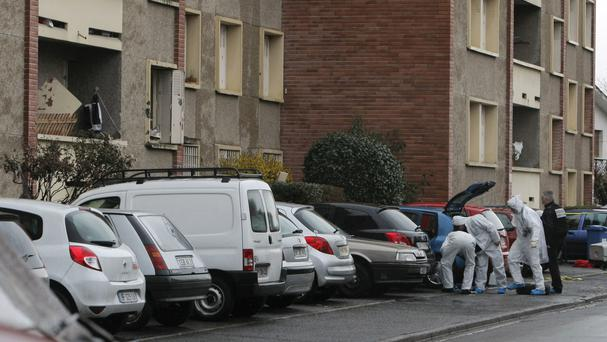 French police outside the apartment of terrorist Mohamed Merah in Toulouse (AP Photo/Thibault Camus, FILE)