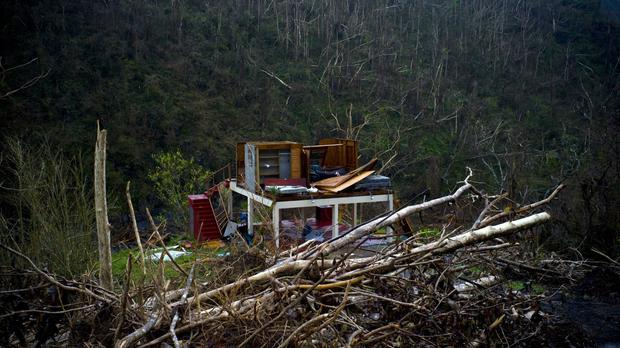 A mountain house wrecked by Hurricane Maria in Puerto Rico (AP Photo/Ramon Espinosa)
