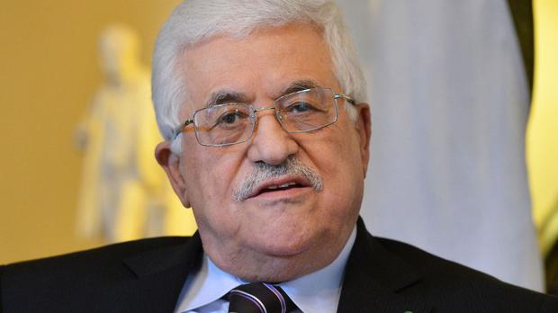 Library picture of Palestinian president Mahmoud Abbas