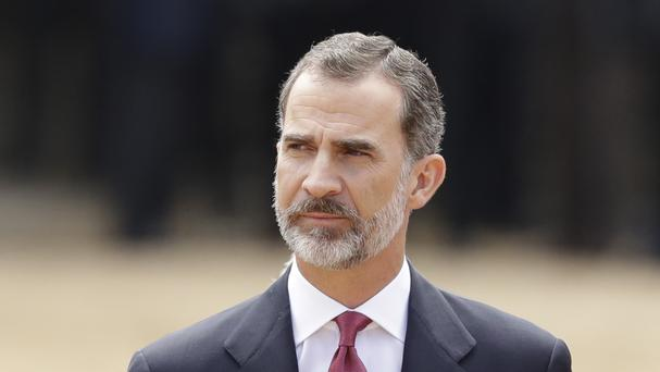 King Felipe VI said the state needs to ensure constitutional order and the rule of law in Catalonia