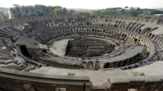 A view of the ancient Colosseum as seen from the top level (AP)