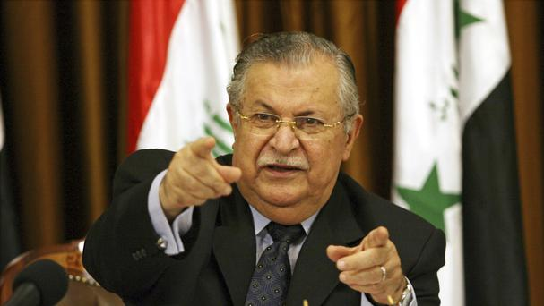 Jalal Talabani was seen as a conciliatory figure (AP)