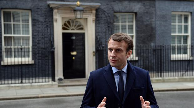 Emmanuel Macron, during a visit to Downing Street