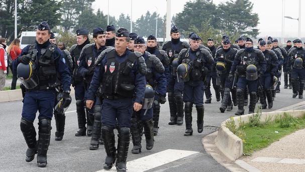 Archive picture of French police