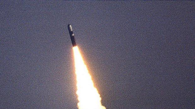 A Trident missile being tested