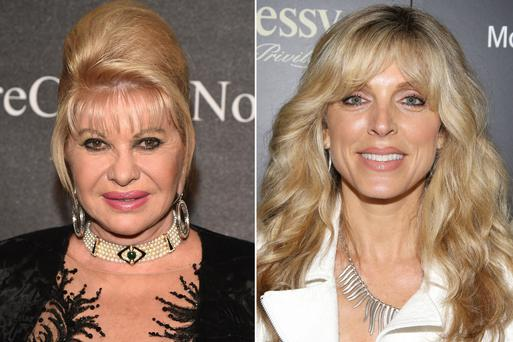 First and second wives: Ivana Trump and Marla Maples