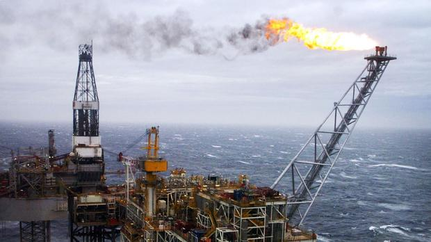 North Sea oil extration