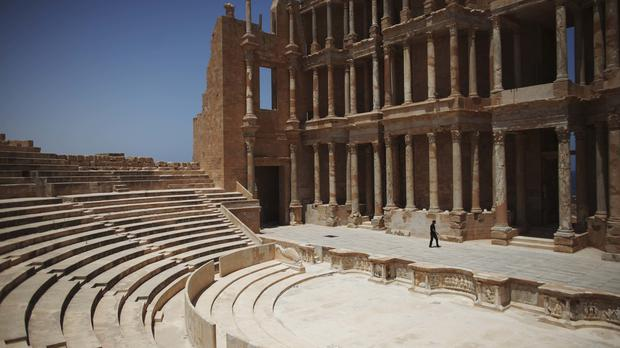 The ancient city of Sabratha has been the scene of clashes between Libya's rival factions (AP)