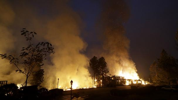 A wildfire in Santa Rosa, California (AP)