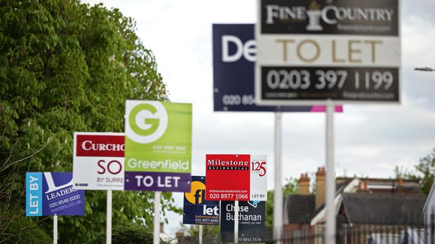 Housing Market Estate Agent Signs