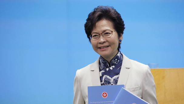 Carrie Lam is the chief executive of Hong Kong (AP)