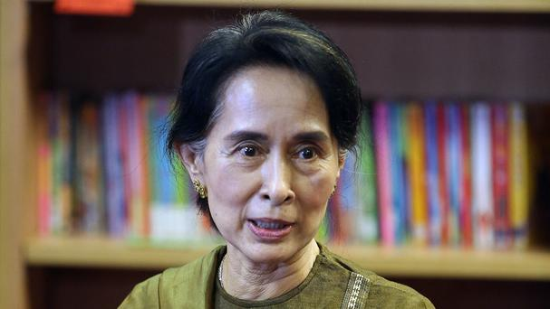Aung San Suu Kyi has vowed to seek peace and to develop the troubled Rakhine state