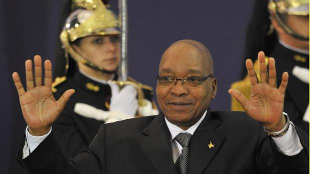 Jacob Zuma during a visit to France