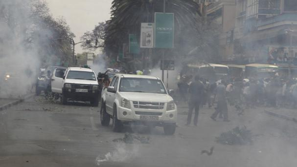 File photo of clashes on Wednesday in Nairobi (AP)