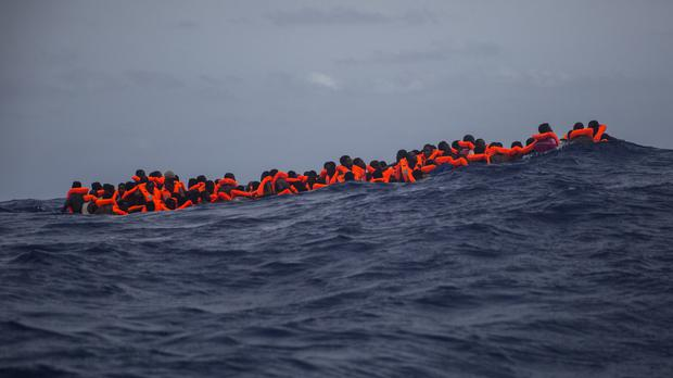 File photo of migrants in the Mediterranean (AP)
