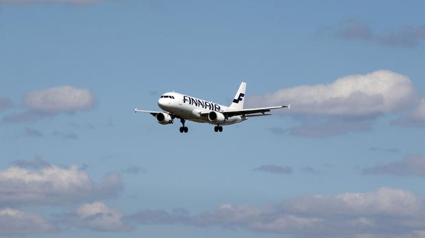Stock picture of a Finnair plane