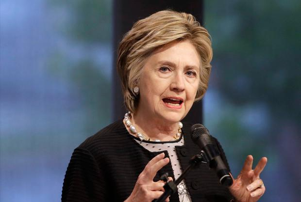 Hillary Clinton: 'Sexual assaulter in the Oval Office'. Picture: AP