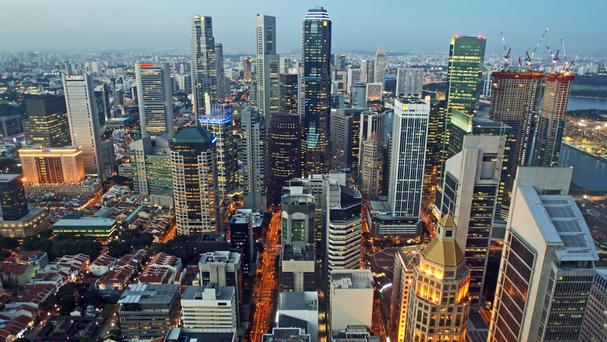 'Singapore is driving an ambitious environmental agenda, with a target of 80pc of buildings to be green by 2030' Photo: PA