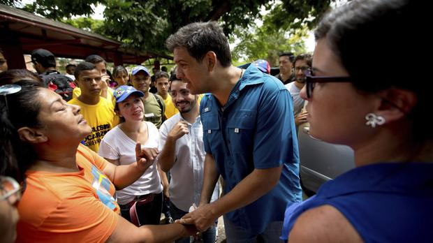 Opposition candidate Carlos Ocariz is running for governor of Miranda state (AP)