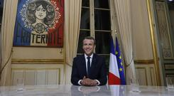 Emmanuel Macron addressed several subjects during his interview (AP)
