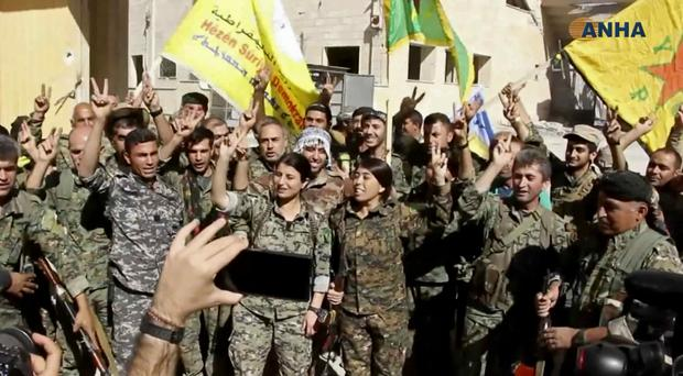 Syrian Democratic Forces clearing Raqqa war remnants after ousting Islamic State
