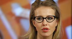 Ksenia Sobchak has her eyes on the Kremlin (AP)