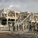 Hundreds of people were killed in the blast on Saturday (AP)