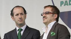 Roberto Maroni, left, and Luca Zaia are championing greater autonomy for their regions (AP)