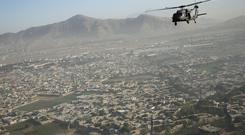 A helicopter over Kabul