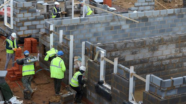Homes under construction on a new housing development, as the construction industry looks set to drag on economic growth during the third quarter (PA).
