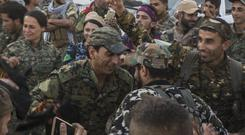 Members of the US-backed SDF have made more gains against IS
