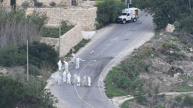 Daphne Caruana Galizia was killed in a car bombing last week (AP)