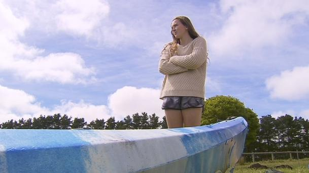 Sarah Williams was attacked by a great white shark off the coast of South Australia (Channel 9/AP)