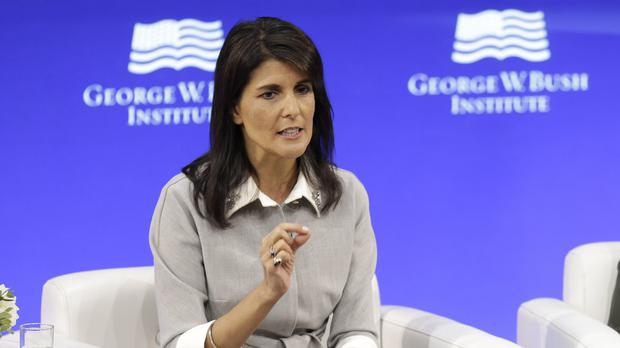 US ambassador to the United Nations Nikki Haley (AP)