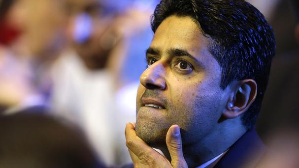 Nasser Al-Khelaifi is suspected of bribery, fraud, criminal mismanagement and document forgery (AP)