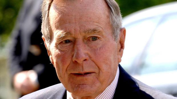 Former US president George HW Bush offered a second apology
