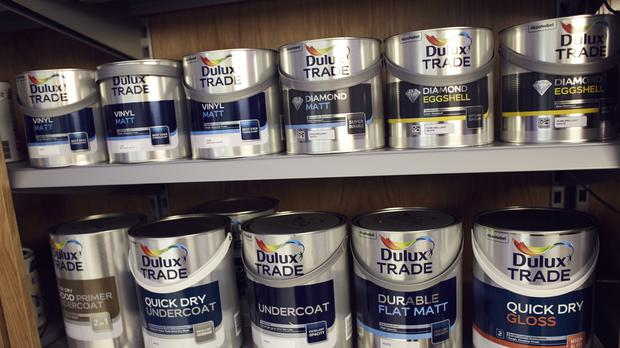 Dulux paint cans