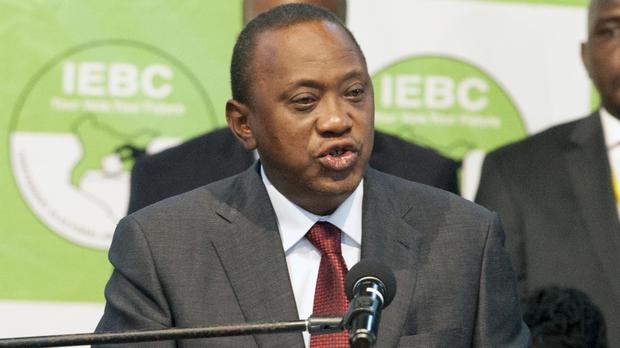 Uhuru Kenyatta addresses the nation after he was announced the winner in the rerun of the presidential election (AP)