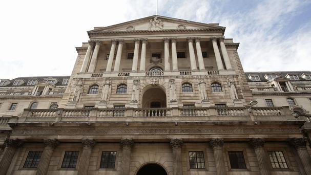 The Bank of England, as sterling rises on prospect of an interest rate hike (PA)