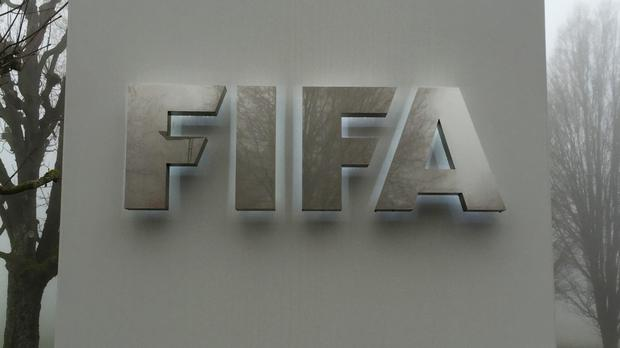 A sign outside the Fifa headquarters in Zurich, Switzerland