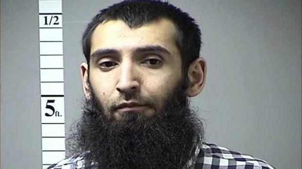 Sayfullo Saipov appeared in court in a wheelchair and was ordered to be detained (St. Charles County Department of Corrections/KMOV via AP)