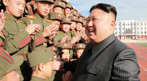 North Korea's leader Kim Jong-un visits the Mangyongdae Revolutionary Academy. Photo: Reuters
