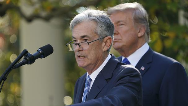 Federal Reserve board member Jerome Powell speaks after US President Donald Trump announced him as his nominee for the next chairman of the Federal Reserve (AP Photo/Pablo Martinez Monsivais)