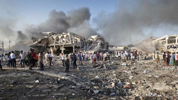 The Somali capital Mogadishu was hit by a huge terror attack last month (AP)