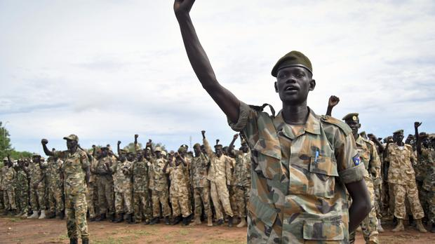 Soldiers in South Sudan (AP)