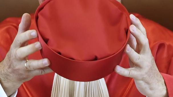 Judge Ferdinand Kirchhof holds his hat at the Federal Constitutional Court in Karlsruhe, Germany (AP)